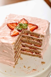 AIP strawberry layer cake
